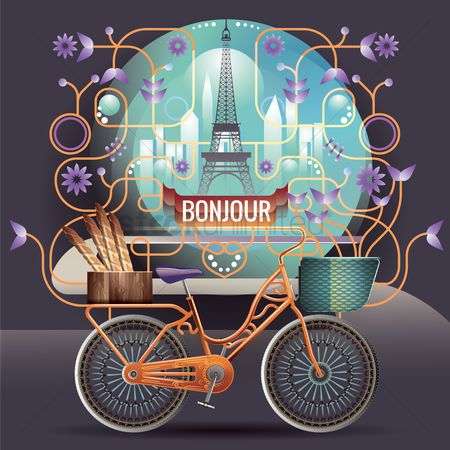 French : Bonjour france greeting