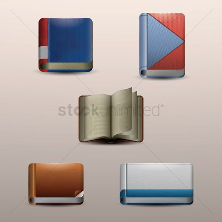 Open : Book icons