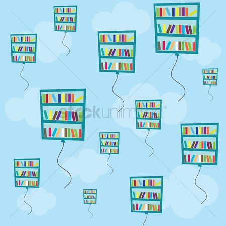 Racks : Bookshelf balloons