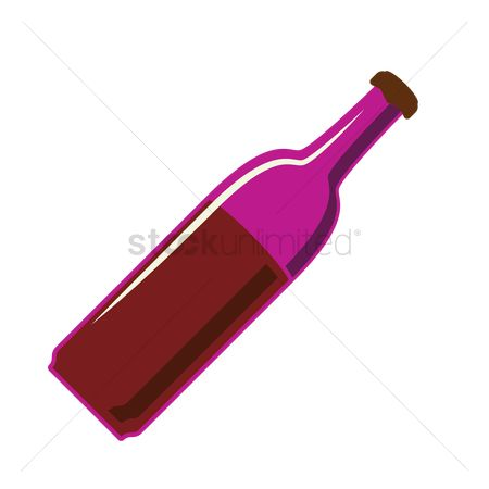 Red wines : Bottle of wine