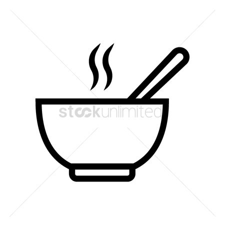Spoons : Bowl of hot soup