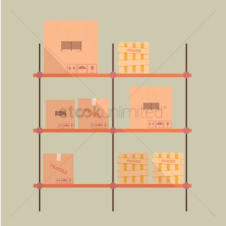 Racks : Boxes and crates on rack