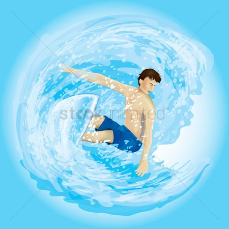 Summer : Boy surfing