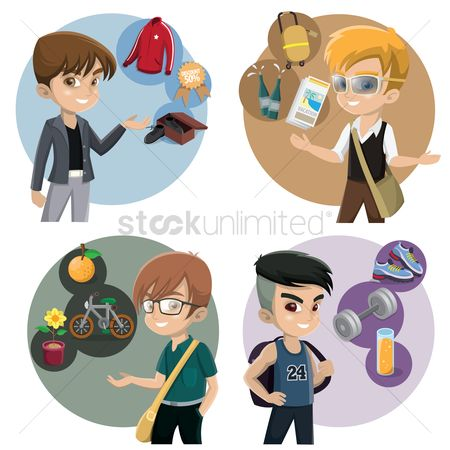 Accessories : Boys with various activities