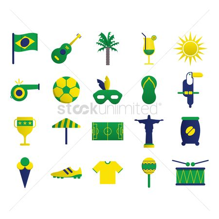 Jersey : Brazil icons