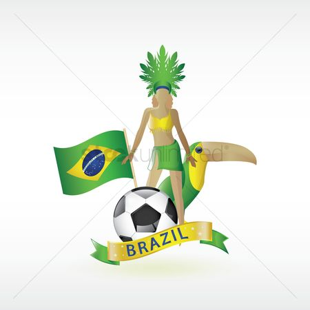 Headdress : Brazil symbols