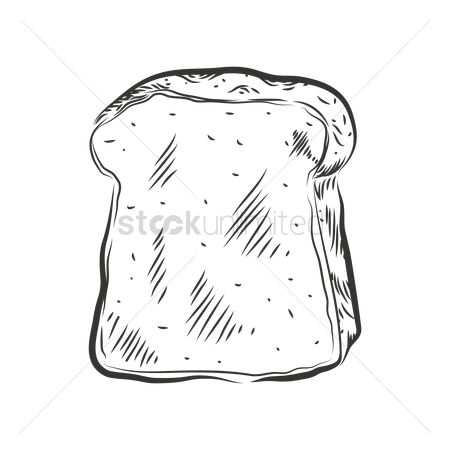 Flour : Bread slice