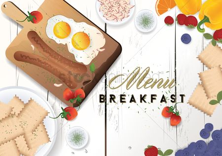 Plates : Breakfast menu