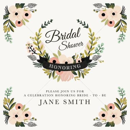 Celebration : Bridal shower invitation
