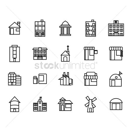 Shops : Building icon pack