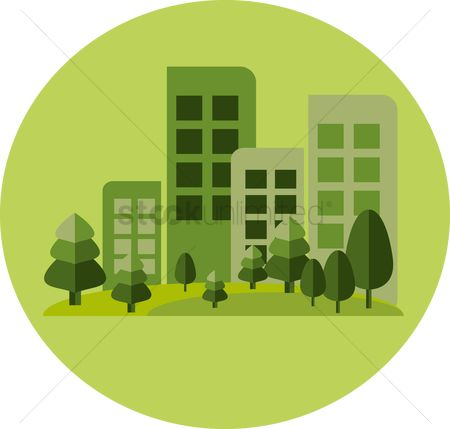 Save trees : Buildings and trees