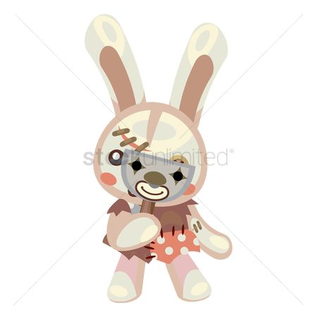 Hare : Bunny with venetian mask