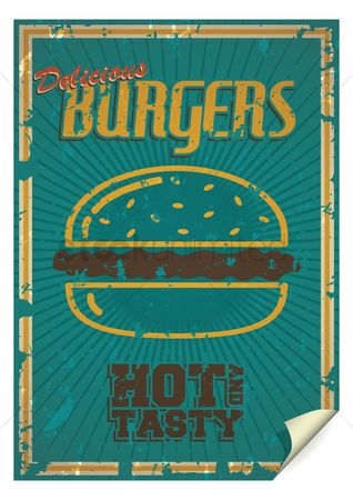Old fashioned : Burgers poster