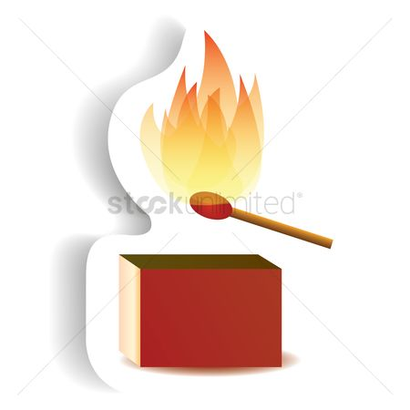 Lighter : Burning match stick