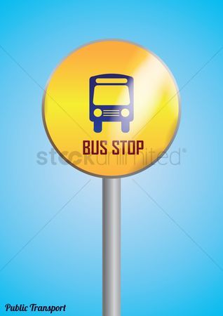 Roadsigns : Bus stop poster