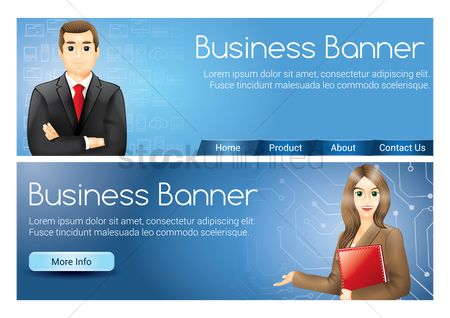 Entrepreneur : Business banner set