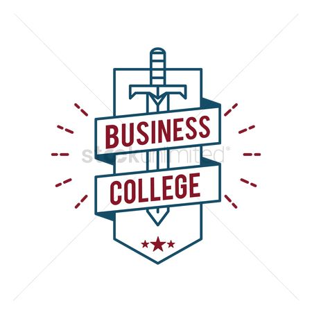 Educational banner : Business college badge design