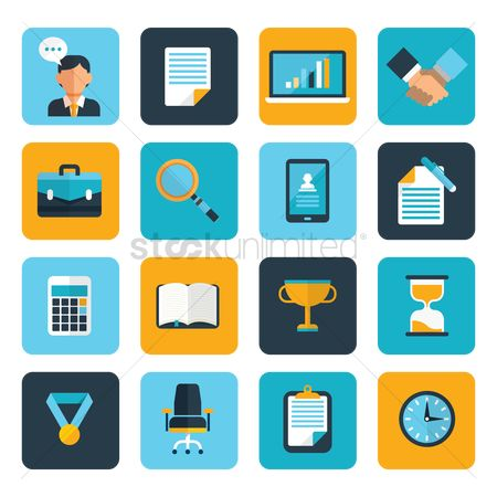 Entrepreneur : Business icons set