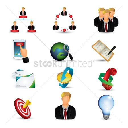 Magnifying : Business icons