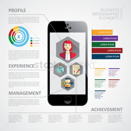 Achievements : Business infographic elements