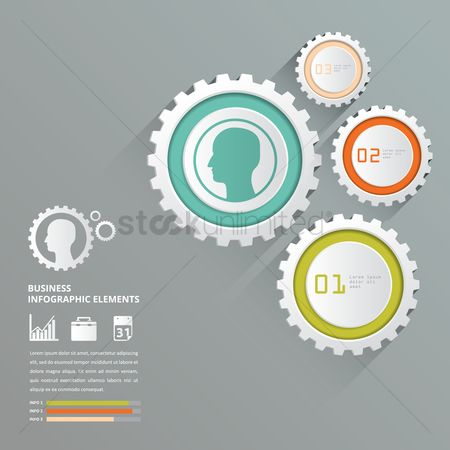 Cogwheels : Business infographic elements