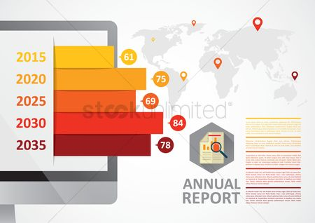 Reports : Business infographic