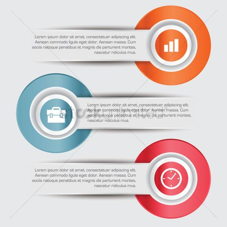 Timepiece : Business infographic