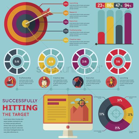 Researching : Business infographic
