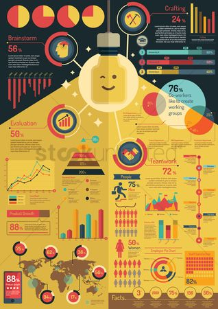 Workers : Business infographic