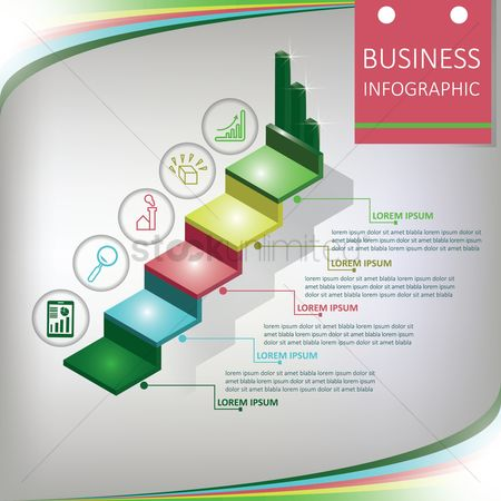 Boxes : Business infographic