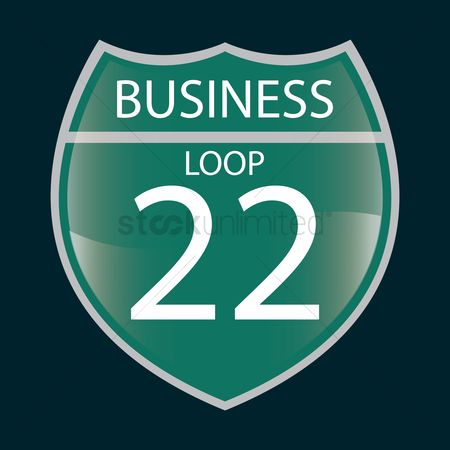 Attention : Business loop 22 sign