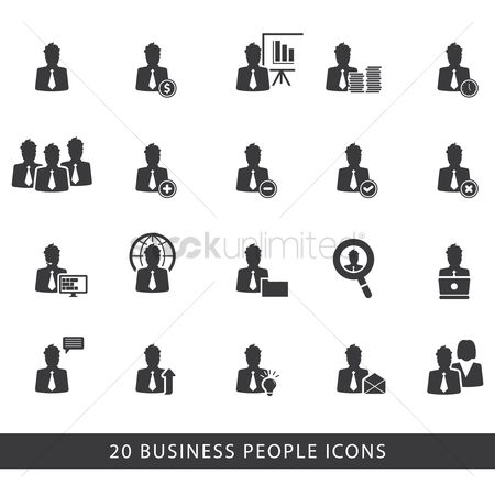 Clothings : Business people icons