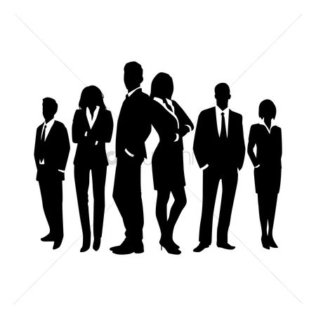 Posing : Business people silhouette
