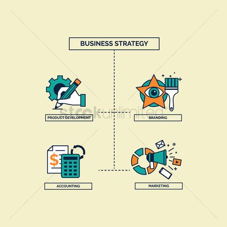 Brushes : Business strategy concept