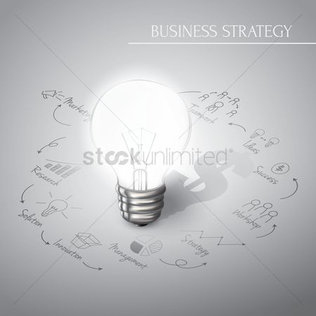 Flow : Business strategy diagram concept
