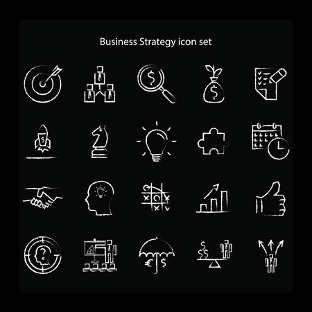 Head : Business strategy icon set