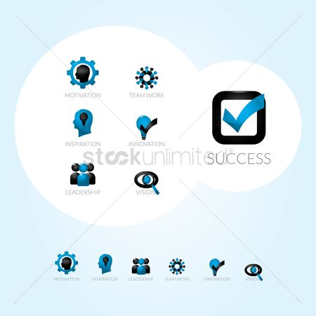 Dartboard : Business strategy icons