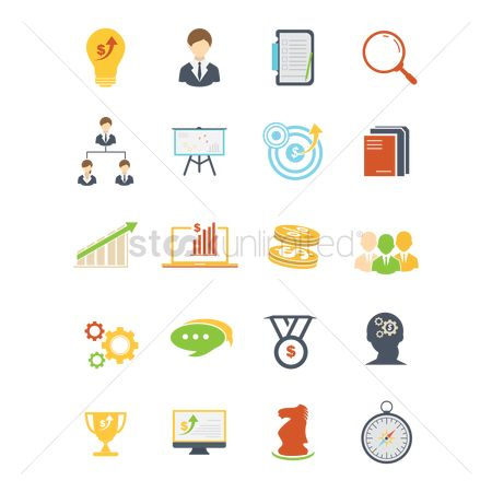 Cogwheels : Business strategy icons