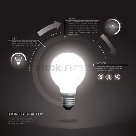 Researching : Business strategy infographic