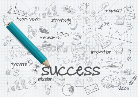 Researching : Business success concept