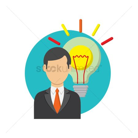 Filament : Businessman and bulb