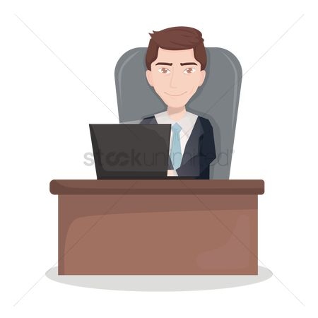 Smart : Businessman at desk