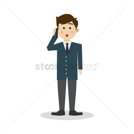 Customers : Businessman on a business call
