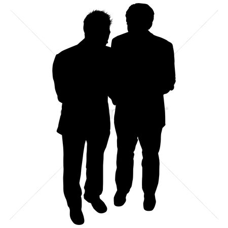 Business deal : Businessman talking silhouette