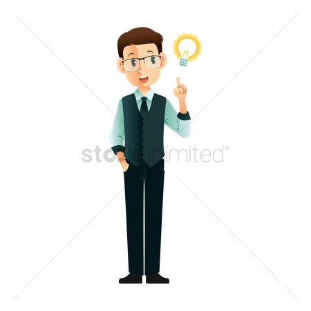 Workers : Businessman thinking idea