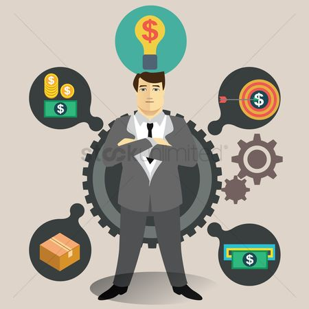 Mechanicals : Businessman thinking