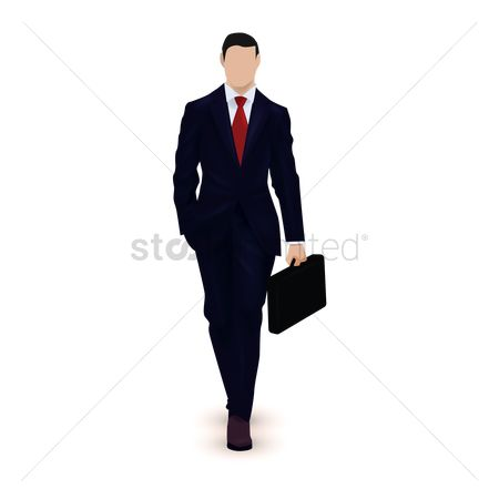 Posing : Businessman with briefcase