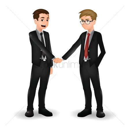 Workers : Businessmen greeting