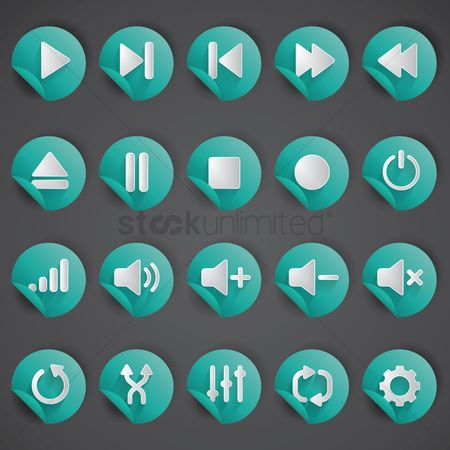 Volume : Buttons icons