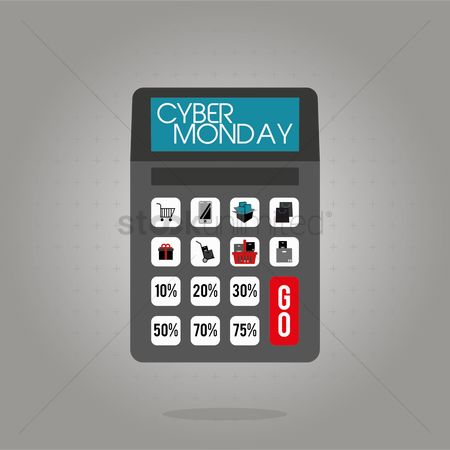 Register : Calculator with cyber monday sale design